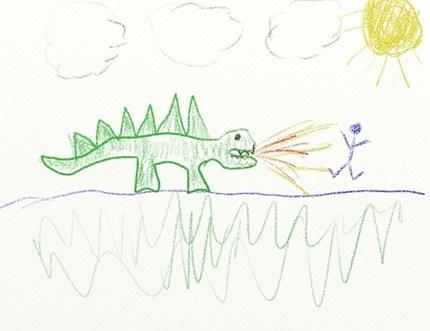 Dinosaur burn up