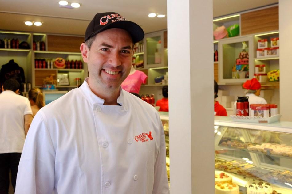 Rick Zavala, ganhador da Batalha dos Confeiteiros, à frente da filial paulistana
