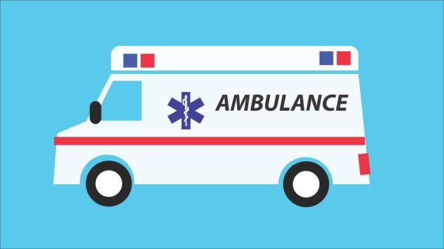 EMT Program Ambulance color background