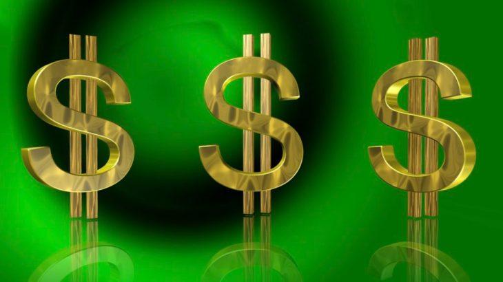 EMT Salary Dollar Signs Green Background