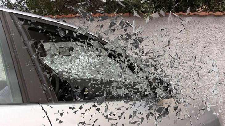 EMT training Car window exploding