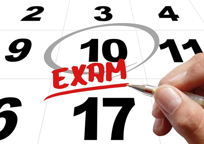 Cognitive Exam Schedule