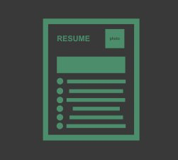 EMT Resume Green Black Background