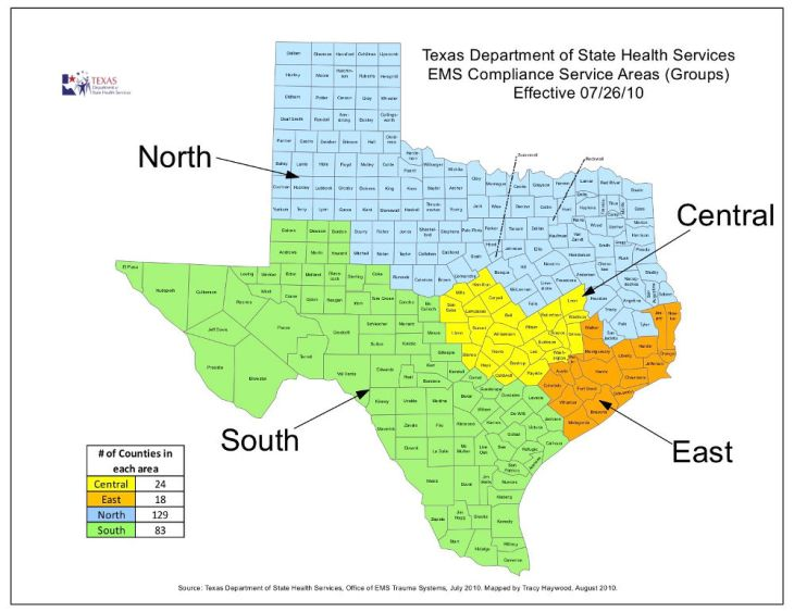 Texas EMT Group Map