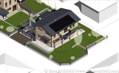 3D model of a passive house