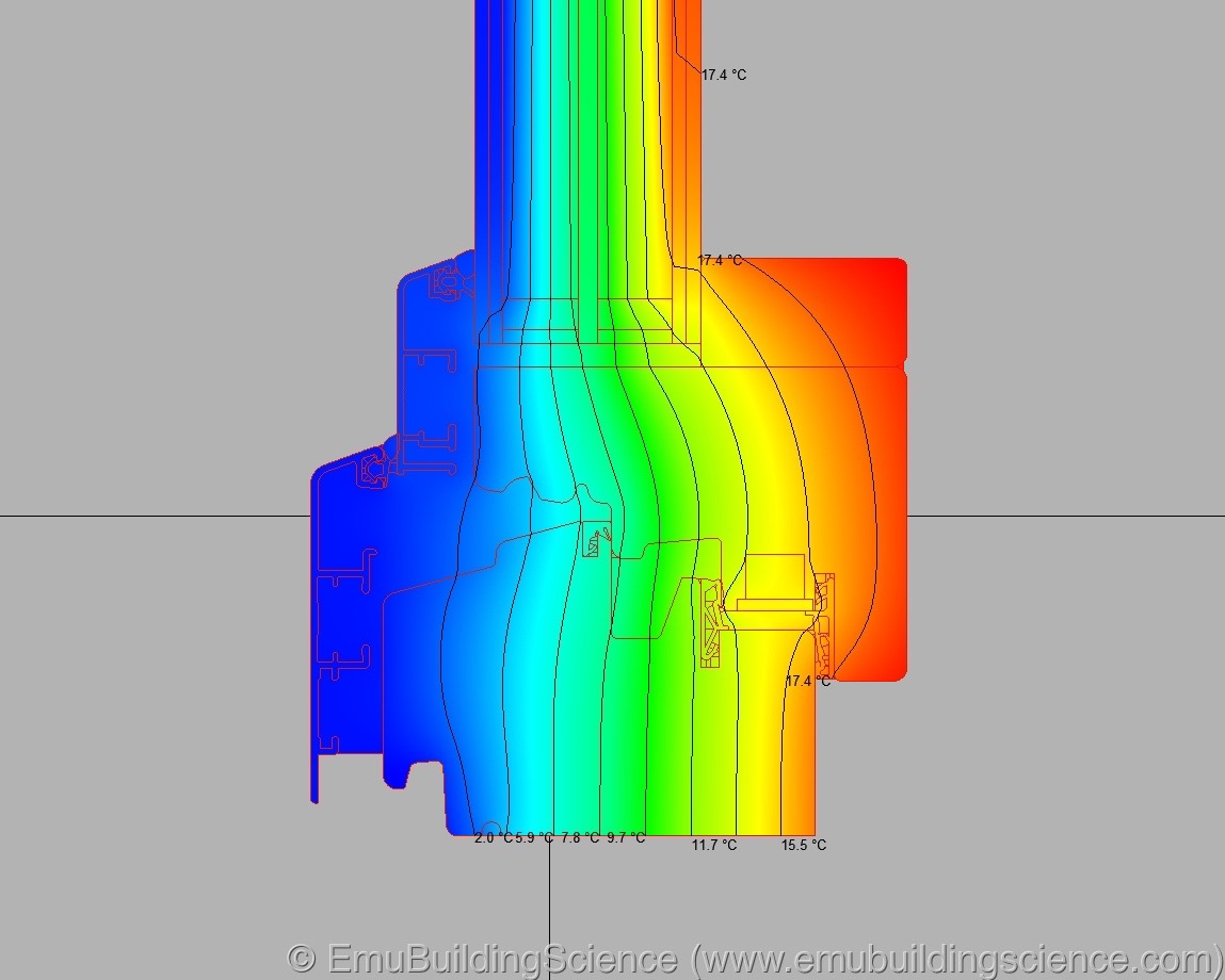 Emu - window frame isotherms