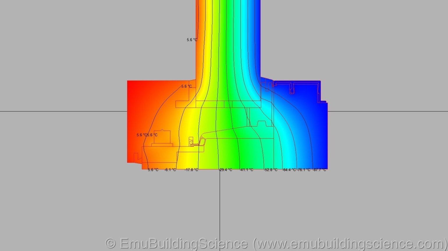 Emu - window side isotherms