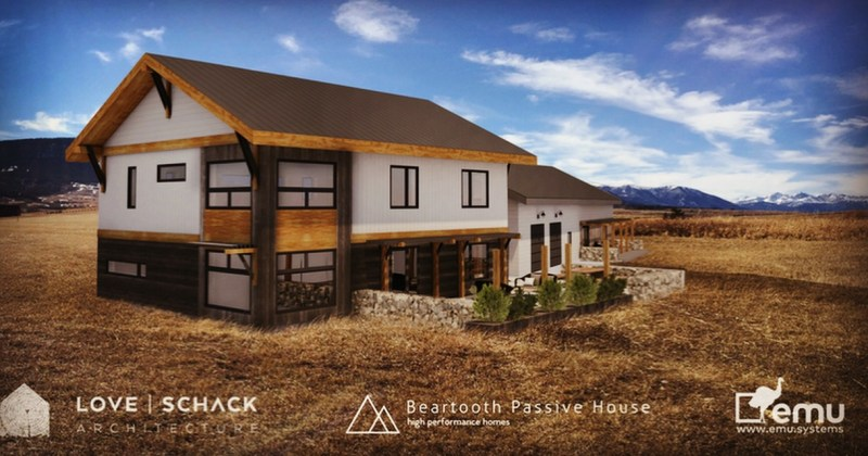 Red Lodge Passive House pilot project rendering