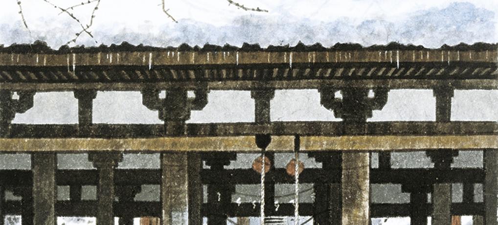 冬の長床(喜多方市)