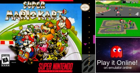 Play Super Nintendo SNES games Super Mario Kart