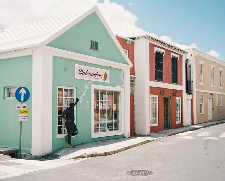 Keeping Cool – St George's, Bermuda – Plaubel Makina 670 + Kodak Portra 400