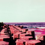 Hexagonal columns - Kodak Aerochrome III Infrared Film 1443 shot at ISO200