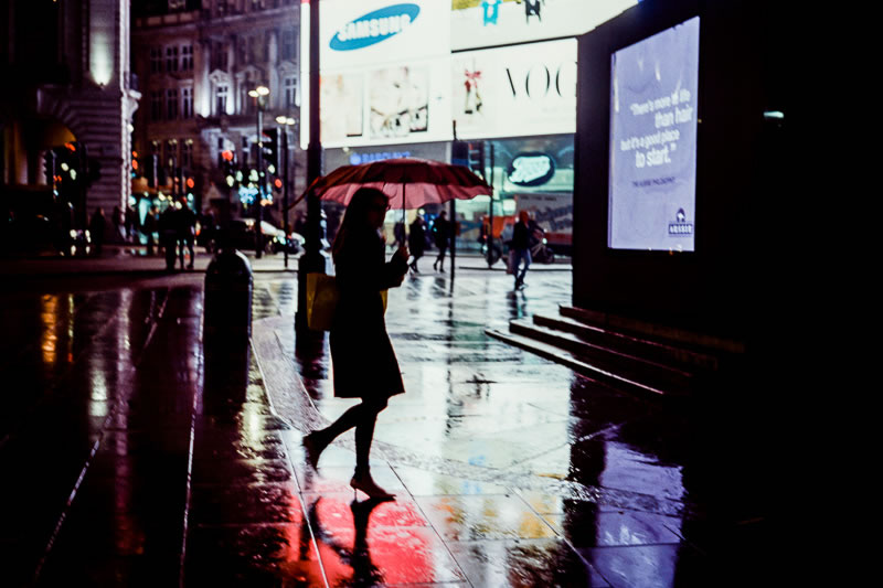 'Piccadilly Rain' - London, 2014 (Leica MP - Voigtlander 35 f/1.4 - Kodak 500T Motion Picture Film)