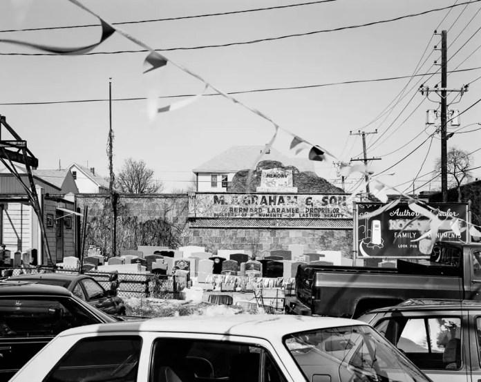 Memory. Sabin St. Pawtucket, 1994. 4x5 Kodak Tri-X, HC-110