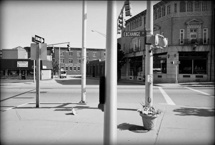 Downtown Pawtucket, RI 2009. Fuji 6x9, Kodak T-MAX 400, Pyrocat HD.