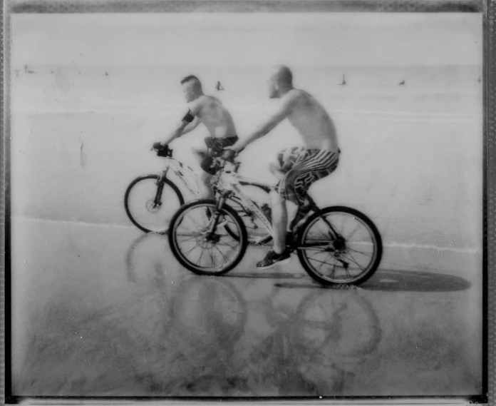 Finally Vendee Beach in France – Spectra BW film from Impossible, I had a blast on the beach with that camera!