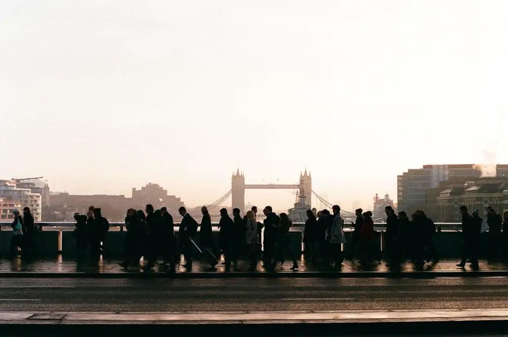 London Bridge - Olympus OM-1n 50mm, Fuji Superia X-TRA400