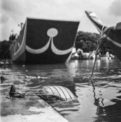 Tyre'd - Kodak T400CN shot at ISO400. Black and white negative film in 120 format shot as 6x6.
