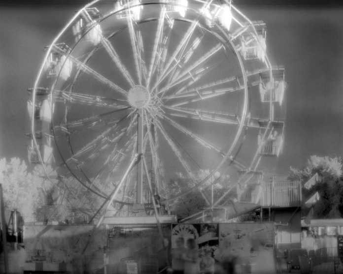 Douglas County fair, Lawrence KS. Expired Efke Aura 820-IR - 150mm lens