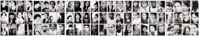 Portraits of students of New Urban Arts, Providence RI 2005-2010 35mm Pan-F+ in Pyrocat HD 1:1:50 Printed on 11x14 Ilford Multigrade FB and toned on Kodak Polytoner.