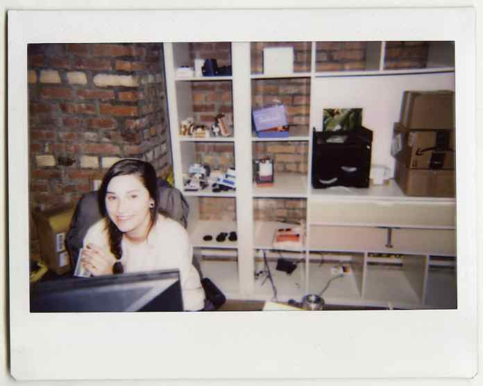 Katherine in the office