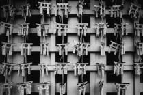 Prayer gates - Kodak Double-X 5222 shot at EI 200. Black and white negative film in 35mm format. Push processed 1 stop.