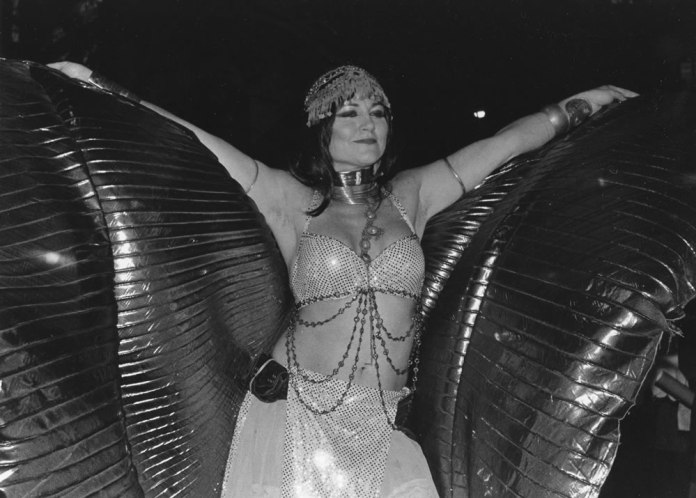 Winged Figure, Greenwich Village Halloween Parade, Ilford HP5, 320, HC110 Dil. H