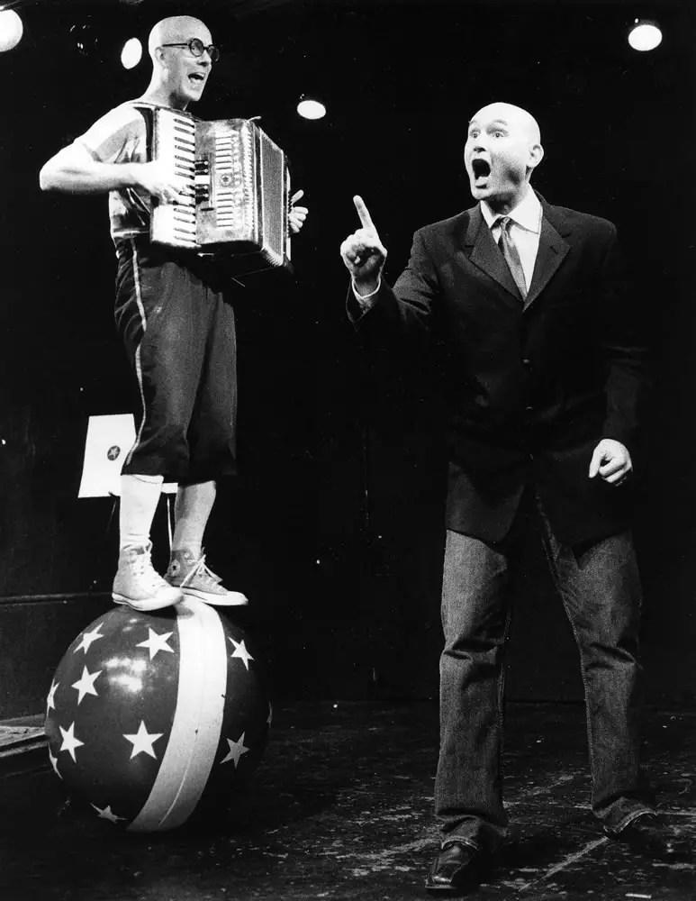 Performers at a revue, Kodak T-MAX 3200 at 1600, HC-110 Dil. B