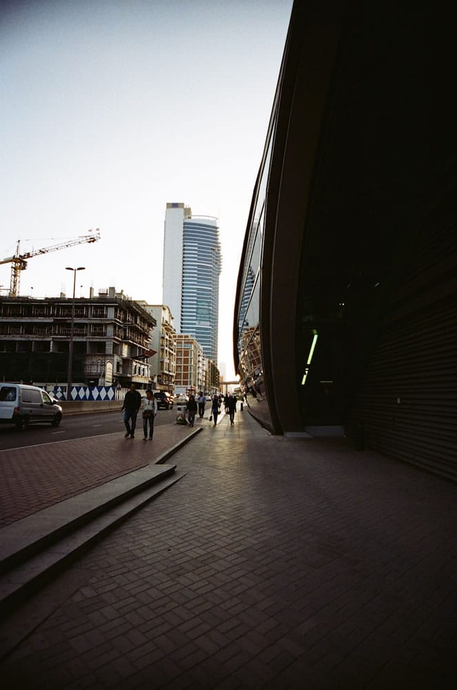 """Metro at Sunset"" Dubai, April 2014 - Kodak ColorPlus 200 / Canon EOS3 / Sigma 10-20mm"