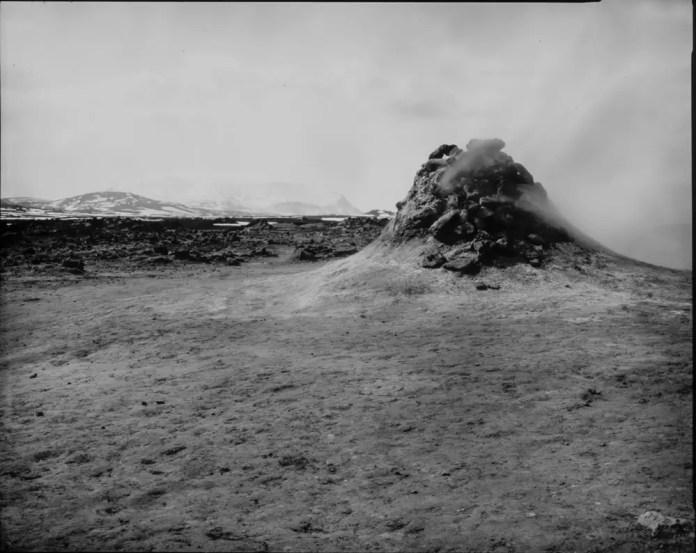 Paper negatives - Mound Venting Steam