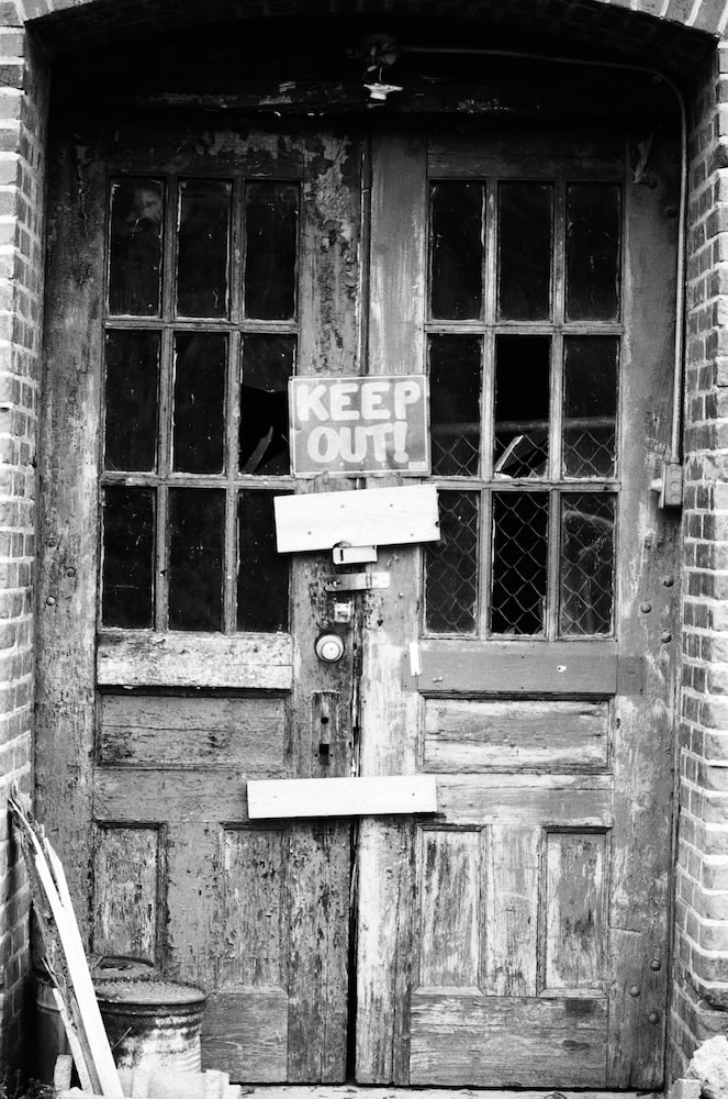 Keep Out - Ilford FP4 Plus Pushed 1 Stop