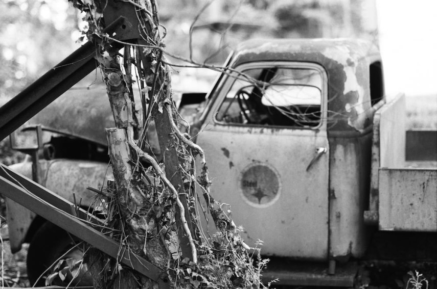 Tangled Steel - Ilford FP4 Plus Pushed 2 Stops