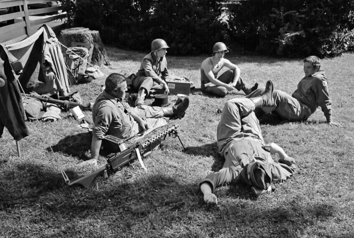 """Relaxing after the """"battle,"""" 8/14, Tri-X in HC110 Dilution H"""