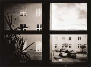 Office window (darkroom print scan)