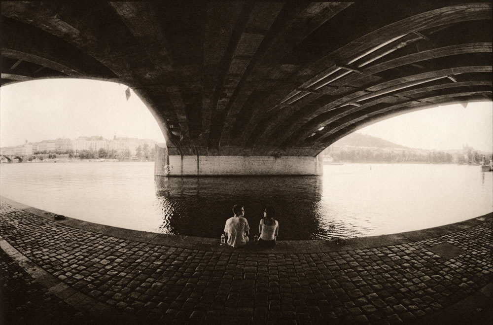 Under the bridge (darkroom print scan)