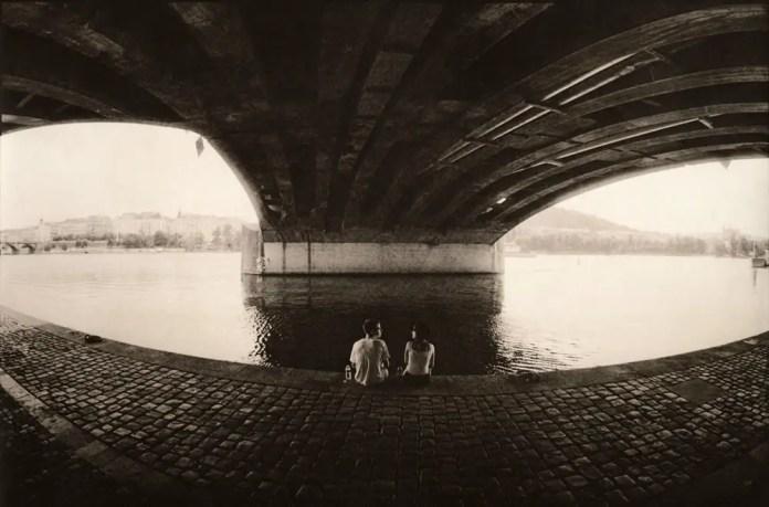 Under the bridge (darkroom print scan)