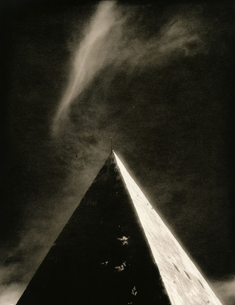 Pyramid (darkroom scan print)