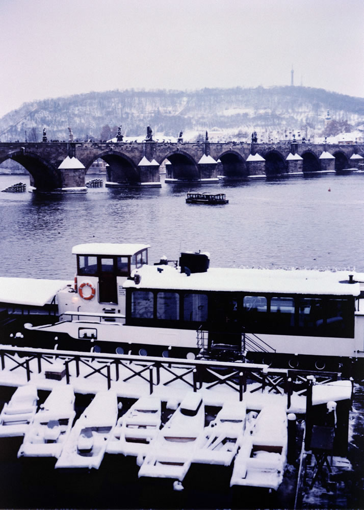 Charles bridge (polaroid negative scan)