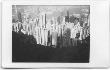 Fuji Instax Mini Monochrome - The Peak, Hong Kong Island