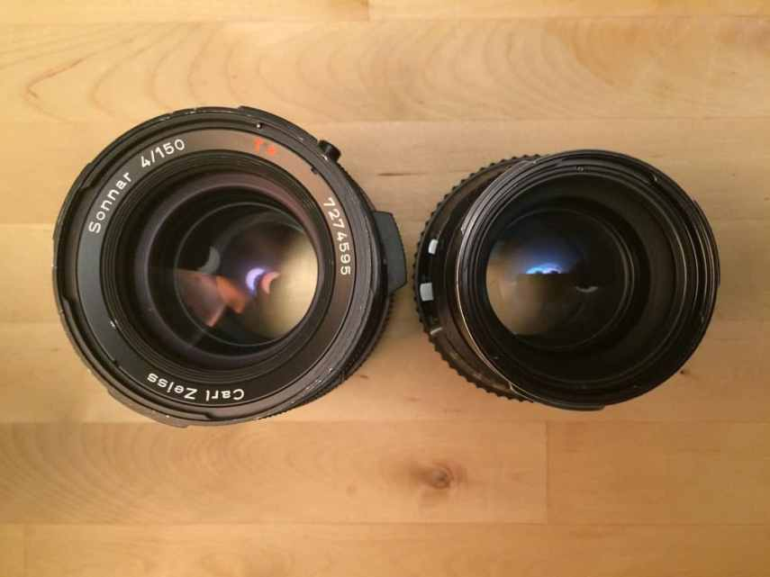 500CM - Left to right: CF and C lenses