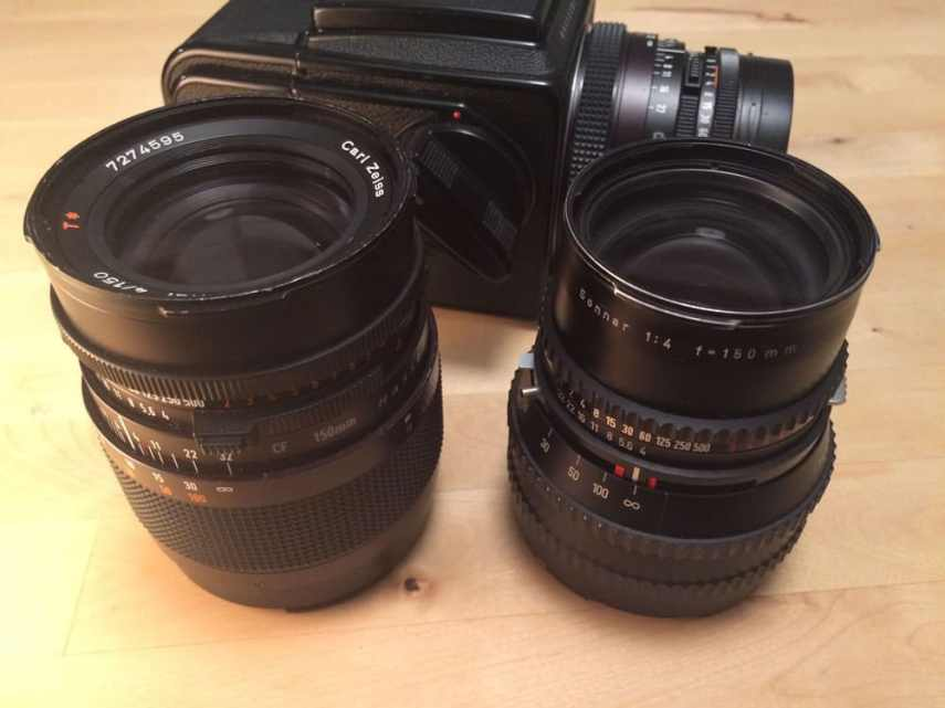 500CM lenses - Left to right CF and C