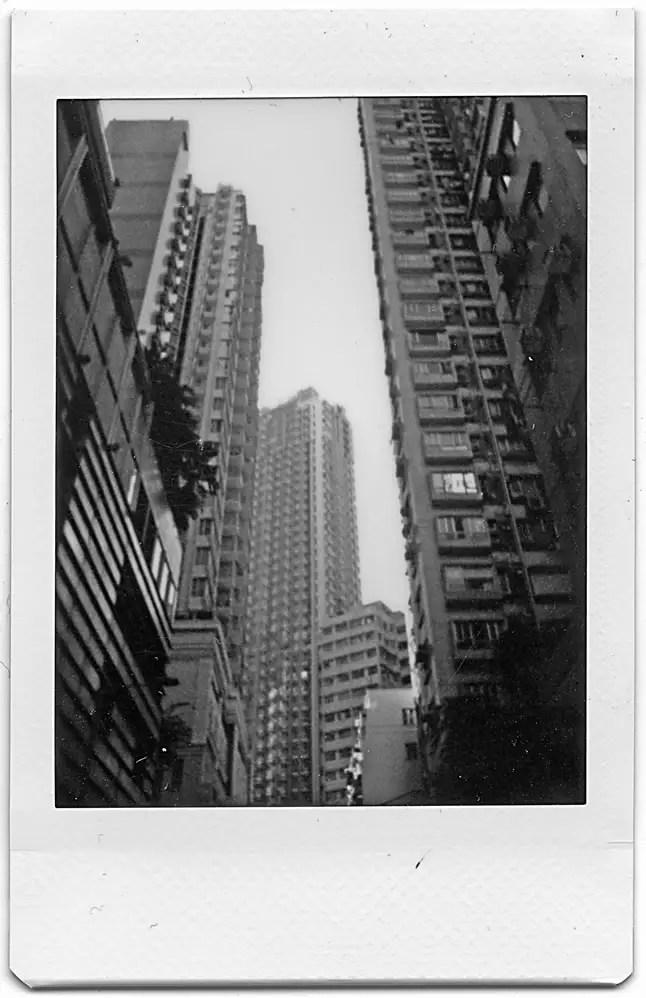 Instax Mini Monochrome - Buildings, Hong Kong