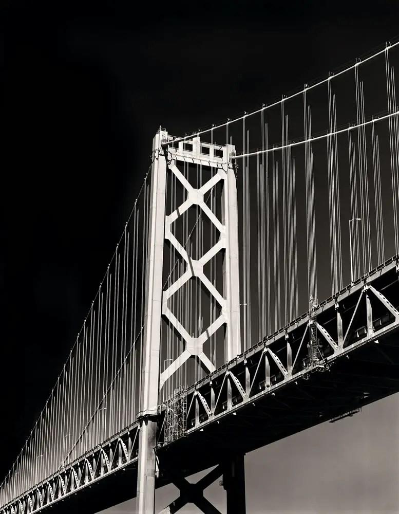 """Bay Bridge - Wisner 8""""x10"""" Nikkor 450mm, Ilford HP5+ in Kodak HC-110"""