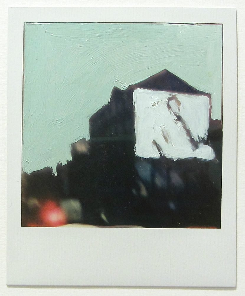 One Day In Shoreditch - Oil on Polaroid (in private collection. Giclee prints available)
