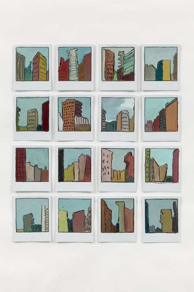 City Skies London - East 16 painted Polaroids - image credit lucid plane