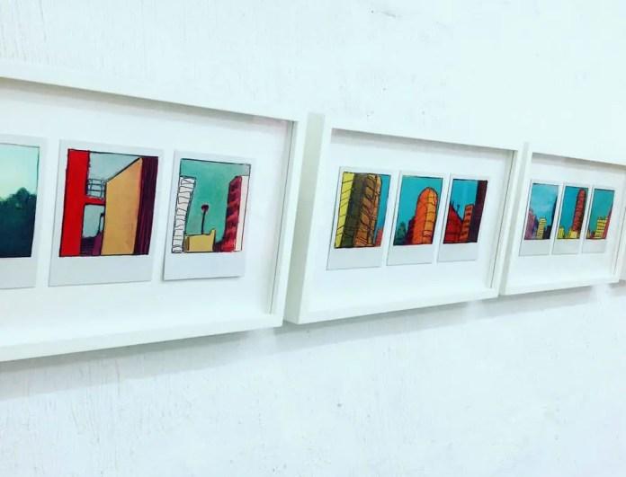 Triptychs - Oil on Polaroids