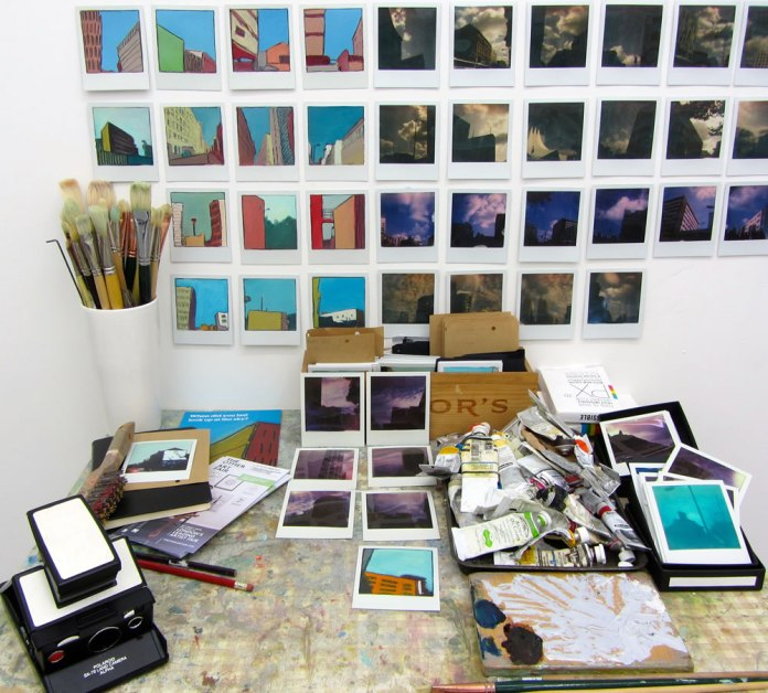 Worktable 2015 - I work at an old formica kitchen table and am a bit messy