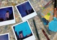 Work in progress - Four Polaroids (before). Polaroid SX70 Land Camera Alpha, Impossible instant color film
