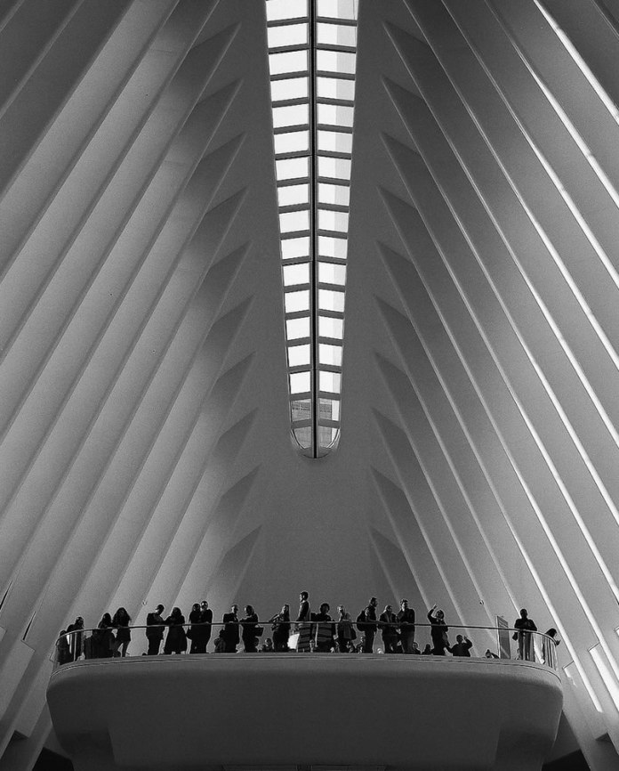 World Trade Center Oculus - New York City. Shot on: 120 Ilford FP4 125, Pentax 67ii, Pentax 67 SMC 90mm f2.8 lens