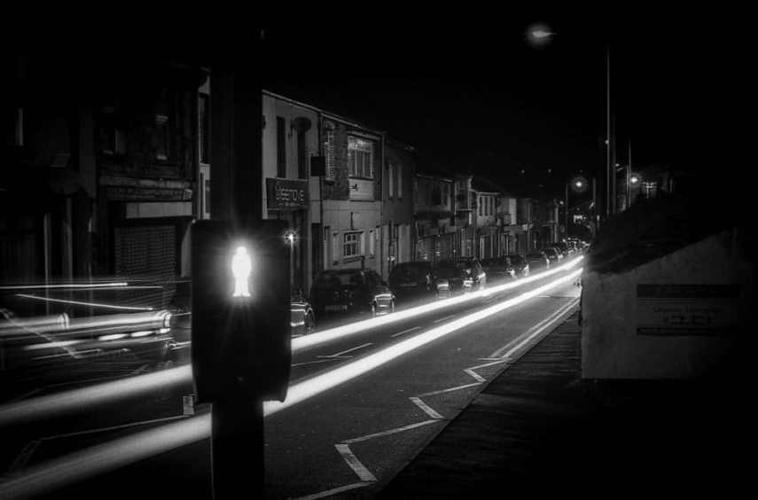 "Tim Dobbs - ‏@timdobbsphoto - ""Do not walk"" ... I tried a bit of night shooting for the #FP4Party @ILFORDPhoto @EMULSIVEfilm #believeinfilm #filmsnotdead"